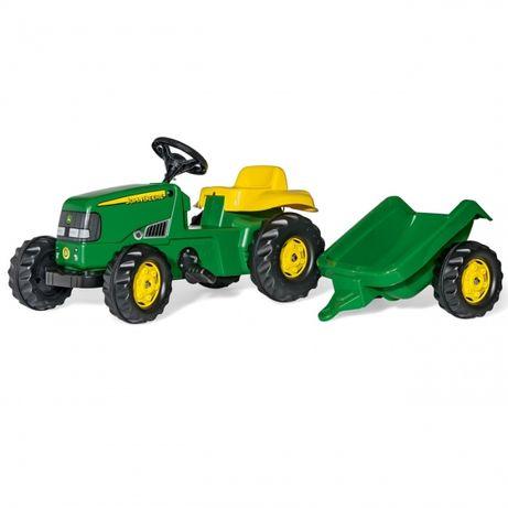 Traktor z przyczepką Traktorek na pedały John Deere z przyczepką 2-5 l