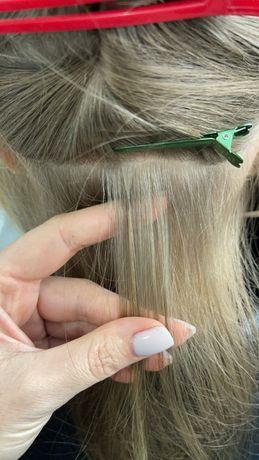 Наращивание волос , делаю самые маленькие капсулы , обучение Киев