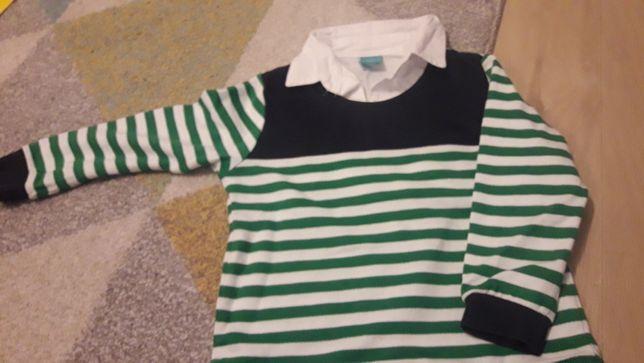 Sweterek z wszyta koszula 104cm
