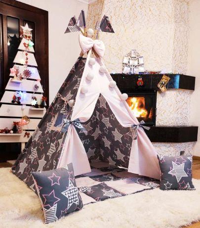 Детская палатка вигвам, домик, шалаш. Идеальный подарок для ребенка