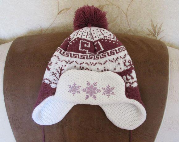 Зимняя детская шапка на 7-11 лет