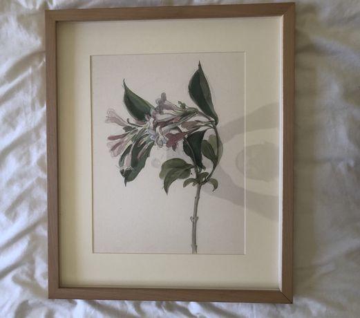 Pintura flores quadro