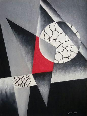 Картина маслом Абстракция Луна