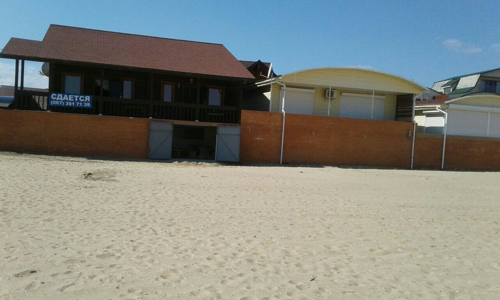 сдам посуточно свои дом, коттедж в первой линии на песке-1