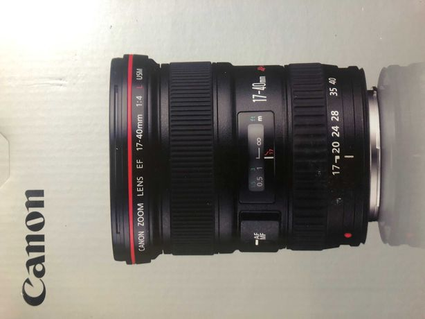Obiektyw Canon EF 17-40 mm   f/4L   USM  +  filtr UV HOYA   jak nowy