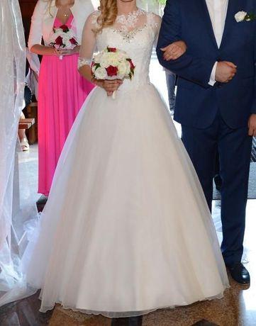 Suknia ślubna + ozdobna bluzeczka