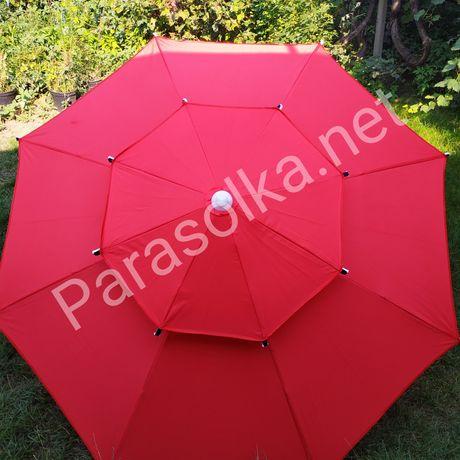 Зонт для пляжа Супер 2 купола брезентовый от солнца Парасоля пляжна