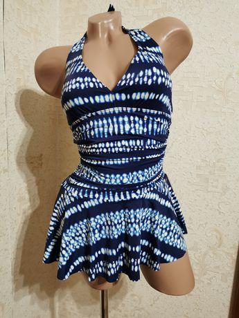 Слитный купальник платье купальник с юбкой  F&F, размер S/M, 44/46