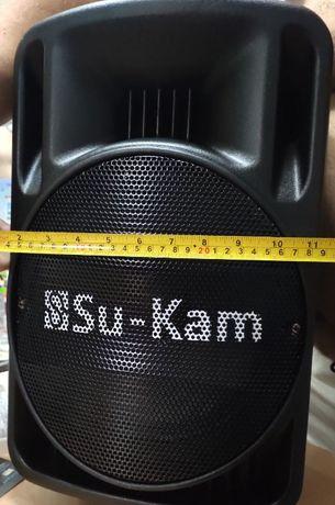 Портативная колонка Su-Kam BT 100D 1 микрофон 12v\220v,новая.