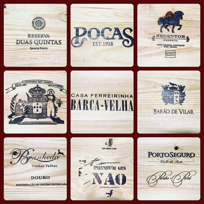 Marcas de vinhos diversos gravados em madeira! Campanhã - imagem 1