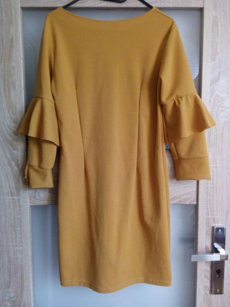 Sukienka musztardowa M stan idealny