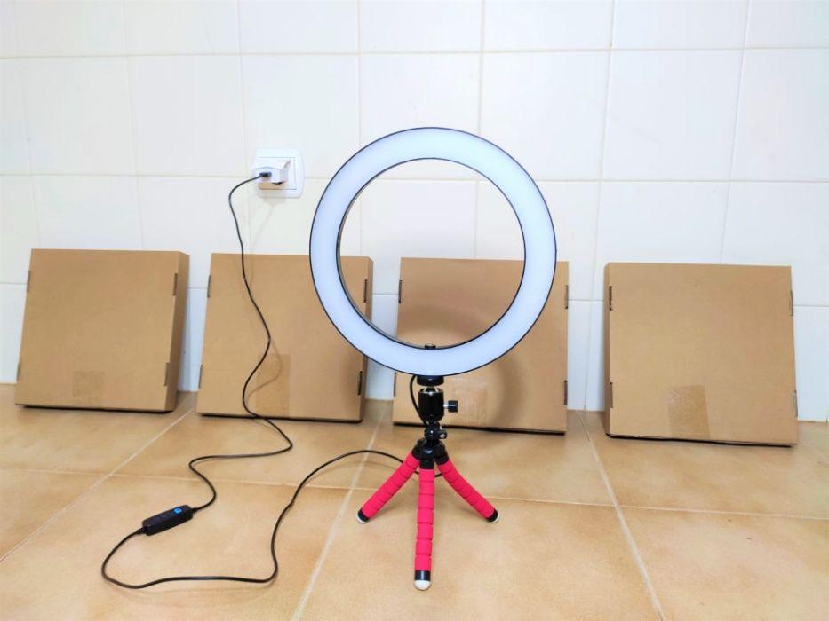 [NOVO] Ring Light c/ Anel 26 cm e Tripé - Intensidade Ajustável Aradas - imagem 1
