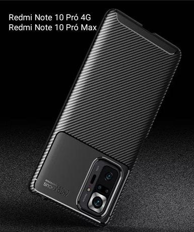 Capa T/ Fibra Carbono Xiaomi Redmi Note 10 Pró 4G / Note 10 Pro Max