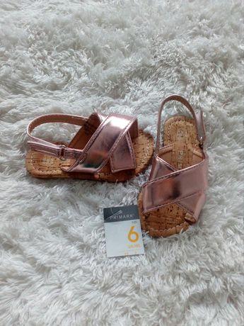 Sandałki różowe nowe primark 23