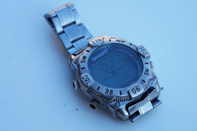 Zegarek Męski SHARP na nadgarstek Bransoleta Stalowy Metalowy