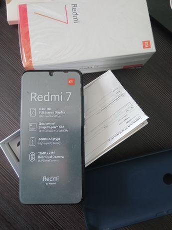 Xiaomi Redmi 7, 3/32, Blue, Глобал, Ідеальний стан, + бампер