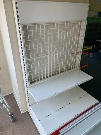 Торговый стеллаж с решетчатыми панельными стенками легкое бу, есть опт
