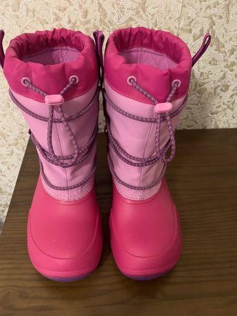 Взуття зимове на дівчинку crocs.Сапожки