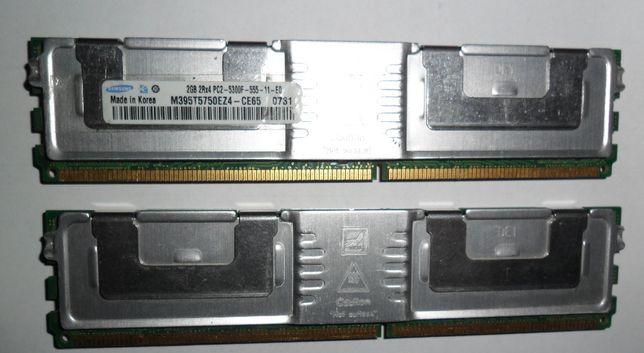 DDR2 Samsung 2Rx4 PC2-5300F-555-11-E0 2Gb с радиатором