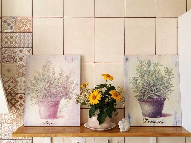 Прованс. 2 картины в стиле Прованс. Розмарин, Тимьян. 45х35 см.