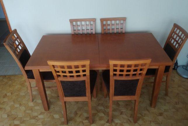Stół rozkładany+ krzesła