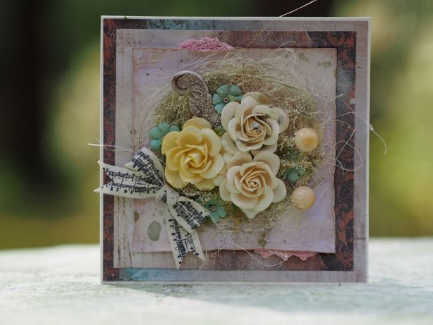 Kartki ręcznie robione, ślub, handmade, scrapbooking