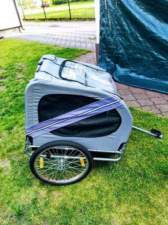 Przyczepka rowerowa dla psa niebieska