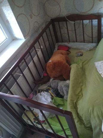 дитяче ліжечко гойдалка деревяне