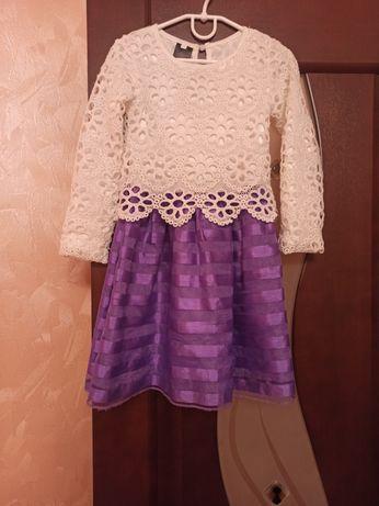 Нарядное лёгкое платье для девочки 6-7 лет