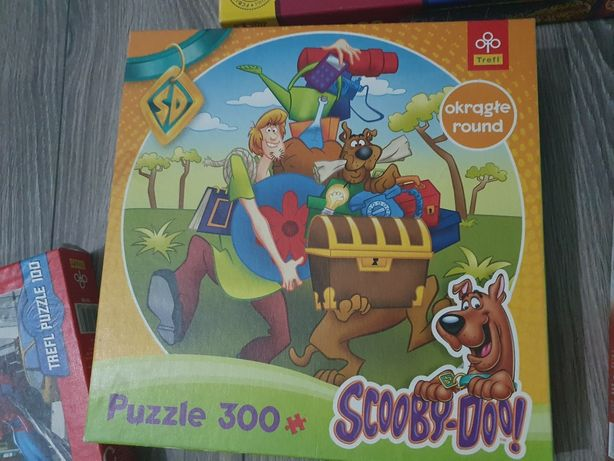 Puzzle okrągłe Scooby-Doo