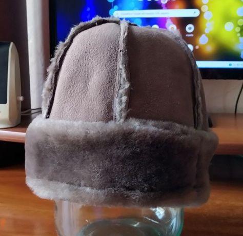 Зимняя шапка из натуральной кожи