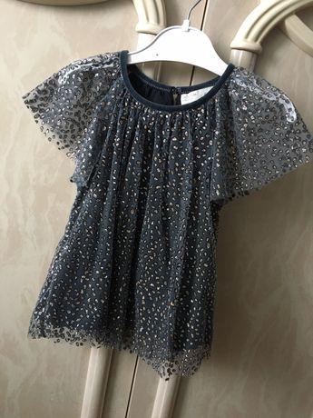Нарядна блузка zara для дівчинки