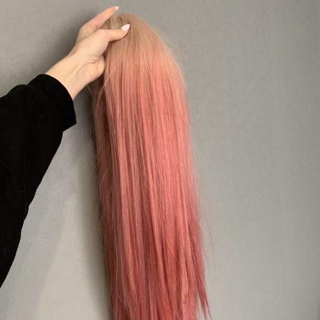 Парик розовый