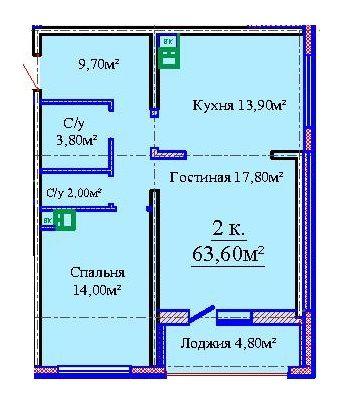 """2 комн. ЖК""""Альтаир-3"""", Жаботинского. Будова. Удобный район для жизни!"""