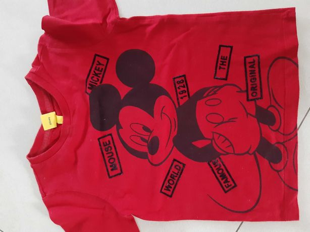 Mickey mouse koszulka bluzka 3 4 latka myszka miki