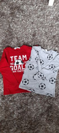 Dwupak koszulki t-shirt r 110/116 h&m