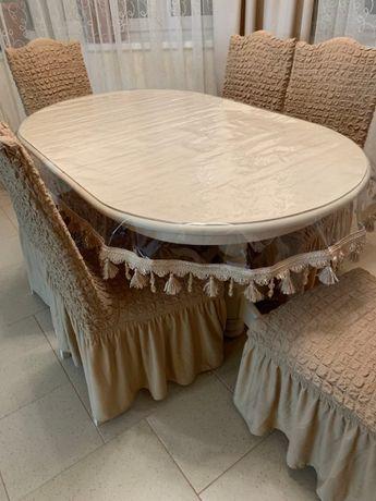 Скатерти на стол с прозрачные с бахрамой.