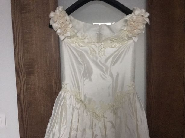 Suknia ślubna ecru roz. 38 na wzrost 170 cm
