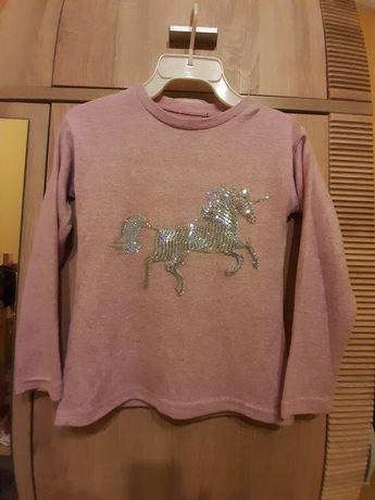 Sweterek z jednorożcem 128/134