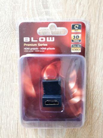 zestaw kabel HDMI kątowy + rozgałęźnik SCART