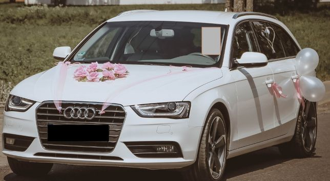 stroik, dekoracja auta, samochodu do ślubu