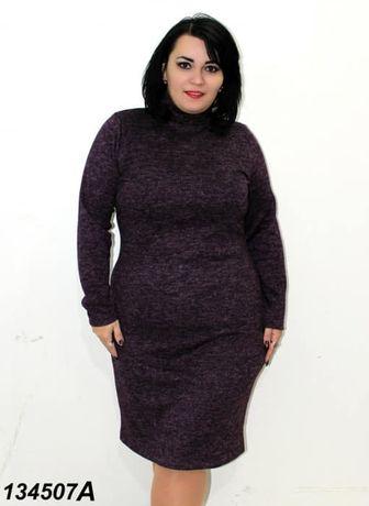 Платье ткань: ангора-меланж р. 44 46 48 50 52 54 56 58 60 62 64
