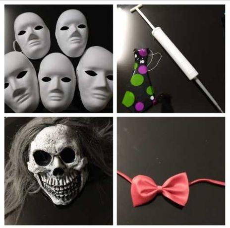 Máscaras e acessórios Carnaval/ Halloween - 16 peças