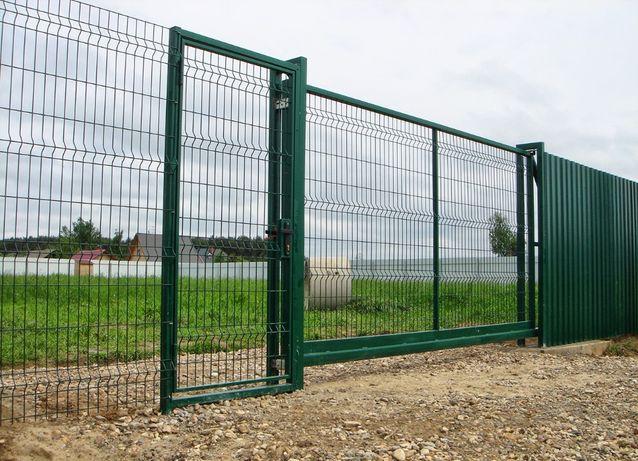 Забор секционный из сварной сетки 3D.2D. Секционное ограждение.