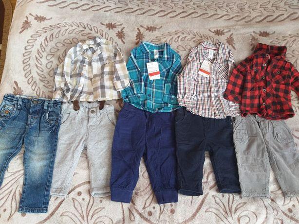 Штани брюки джинси з підтяжками  сорочка рубашка нова f&f ,C A baby cl