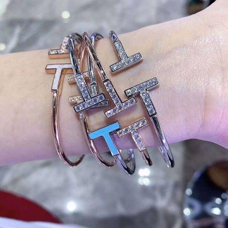 Браслет Tiffany&co Turquoise.Тиффани.родированое серебро 925 пробы.