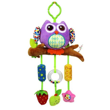 Мягкая подвеска - погремушка Сова Happy Monkey