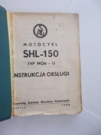 SHL 150 M06 - U Oryginalna instrukcja obsługi z 1958 roku rarytas