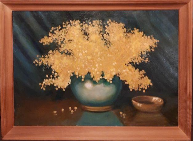obraz olejny mimozy
