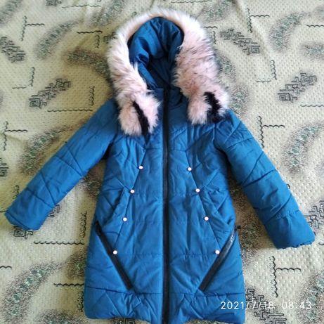Зимняя куртка удлиненная 110 116 122